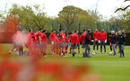 SOUTHAMPTON, ENGLAND - APRIL 26: Southampton FC Players during a Southampton FC training session at Staplewood Complex on April 26, 2018 in Southampton, England. (Photo by James Bridle - Southampton FC/Southampton FC via Getty Images)