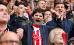 SOUTHAMPTON, ENGLAND - APRIL 28: Saints fans during the Premier League match between Southampton and AFC Bournemouth at St Mary's Stadium on April 28, 2018 in Southampton, England. (Photo by Matt Watson/Southampton FC via Getty Images)