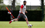 SOUTHAMPTON, ENGLAND - MAY 03: Charlie Austin during a Southampton FC training session at the Staplewood Campus on May 3, 2018 in Southampton, England. (Photo by Matt Watson/Southampton FC via Getty Images)