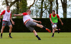 SOUTHAMPTON, ENGLAND - MAY 03: James Ward-Prowse shoots at goal during a Southampton FC training session at the Staplewood Campus on May 3, 2018 in Southampton, England. (Photo by Matt Watson/Southampton FC via Getty Images)