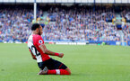 LIVERPOOL, ENGLAND - MAY 05: Nathan Redmond of Southampton celebrates during the Premier League match between Everton and Southampton at Goodison Park on May 5, 2018 in Liverpool, England. (Photo by Matt Watson/Southampton FC via Getty Images)