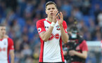 LIVERPOOL, ENGLAND - MAY 05: Jan Bednarek of Southampton during the Premier League match between Everton and Southampton at Goodison Park on May 5, 2018 in Liverpool, England. (Photo by Matt Watson/Southampton FC via Getty Images)