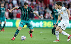 SWANSEA, WALES - MAY 08: Charlie Austin of Southampton during the Premier League match between Swansea City and Southampton at Liberty Stadium on May 8, 2018 in Swansea, Wales. (Photo by Matt Watson/Southampton FC via Getty Images)