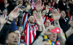 SWANSEA, WALES - MAY 08: Saints fans during the Premier League match between Swansea City and Southampton at Liberty Stadium on May 8, 2018 in Swansea, Wales. (Photo by Matt Watson/Southampton FC via Getty Images)