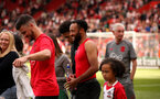 SOUTHAMPTON, ENGLAND - MAY 13: Shane Long and Ryan Bertrand. Lap of appreciation after the Premier League match between Southampton and Manchester City at St Mary's Stadium on May 13, 2018 in Southampton, England. (Photo by Chris Moorhouse/Southampton FC via Getty Images)
