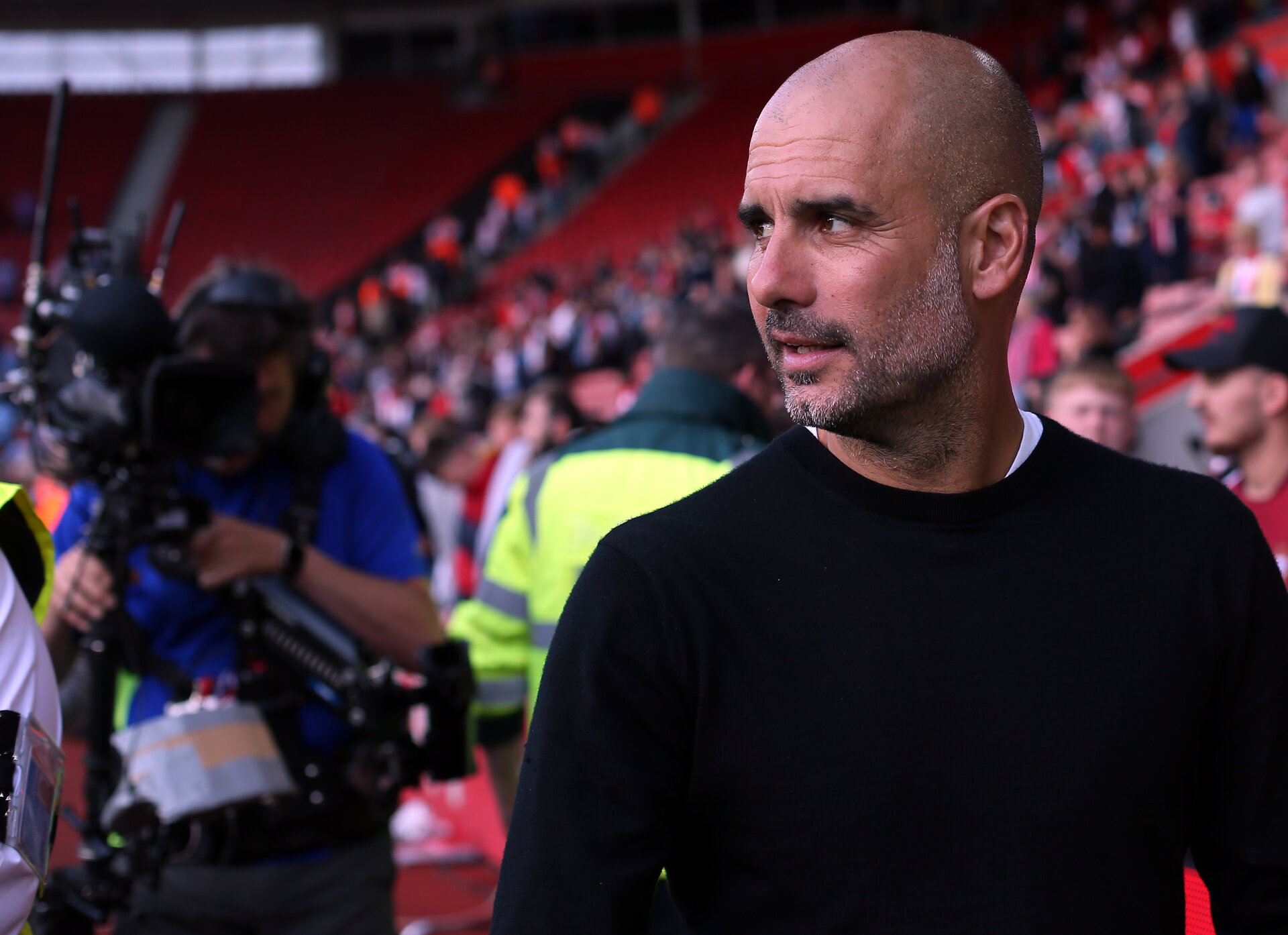 SOUTHAMPTON, ENGLAND - MAY 13: Pep Guardiola during the Premier League match between Southampton and Manchester City at St Mary's Stadium on May 13, 2018 in Southampton, England. (Photo by Chris Moorhouse/Southampton FC via Getty Images)