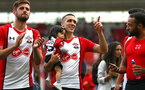 SOUTHAMPTON, ENGLAND - MAY 13: Jack Stephens, Oriol Romeu, during the lap of appreciation after the Premier League match between Southampton and Manchester City at St Mary's Stadium on May 13, 2018 in Southampton, England. (Photo by James Bridle - Southampton FC/Southampton FC via Getty Images)