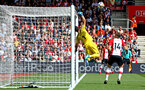 SOUTHAMPTON, ENGLAND - MAY 13: Claudio Bravo makes a save for Manchester City (left) during the Premier League match between Southampton and Manchester City at St Mary's Stadium on May 13, 2018 in Southampton, England. (Photo by James Bridle - Southampton FC/Southampton FC via Getty Images)