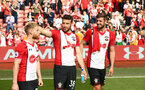 SOUTHAMPTON, ENGLAND - MAY 13: LtoR Josh Sims, Sam McQueen, Jack Stephens during the lap of appreciation after the Premier League match between Southampton and Manchester City at St Mary's Stadium on May 13, 2018 in Southampton, England. (Photo by James Bridle - Southampton FC/Southampton FC via Getty Images)