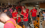 Southampton FC arrive at Shanghai airport, China, to begin their 2 week pre-season tour, 1st July 2018