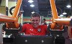 Pierre-Emile Hojbjerg during a gym session of Southampton FC's pre-season tour of China, at the Kunshan training facility, Kunshan, Shanghai, China, 2nd July 2018