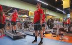 Callum Slattery during a gym session of Southampton FC's pre-season tour of China, at the Kunshan training facility, Kunshan, Shanghai, China, 2nd July 2018