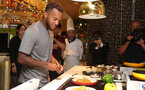 Southampton FC players take part in a cooking challenge during their pre season trip, in Kunshan, China, 2nd July 2018, Ryan Bertrand