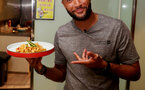 Southampton FC players take part in a cooking challenge during their pre season trip, in Kunshan, China, 2nd July 2018, Nathan Redmond