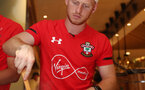Southampton FC players take part in a cooking challenge during their pre season trip, in Kunshan, China, 2nd July 2018, Harrison Reed