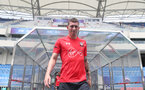 Pierre-Emile Hojbjerg during day 4 of Southampton FC's pre-season tour of China, at the Kunshan training facility, Kunshan, Shanghai, China, 4th July 2018