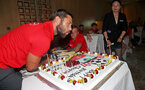 KUNSHAN, CHINA - JULY 05: Charlie Austin of Southampton FC celebrates his 29th Birthday, at the team hotel while on the Southampton FC pre season tour of China, on July 5, 2018 in Kunshan, China. (Photo by Matt Watson/Southampton FC via Getty Images)