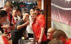 SHANGHAI, CHINA - JULY 06: Southampton FC players visit the Under Armour store while on their pre season tour of China, Josh Sims pictured with a fan, on July 6, 2018 in Shanghai, China. (Photo by Matt Watson/Southampton FC via Getty Images)