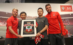 SHANGHAI, CHINA - JULY 06: Southampton FC Josh Sims(L) and Sam McQueen players visit the Under Armour store while on their pre season tour of China, on July 6, 2018 in Shanghai, China. (Photo by Matt Watson/Southampton FC via Getty Images)