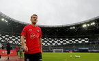 SHANGHAI, CHINA - JULY 09: Steven Davis during a Southampton FC training session, while on their pre season tour of China, on July 9, 2018 in Xuzhou, China. (Photo by Matt Watson/Southampton FC via Getty Images)