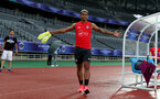 SHANGHAI, CHINA - JULY 09: Mario Lemina during a Southampton FC training session, while on their pre season tour of China, on July 9, 2018 in Xuzhou, China. (Photo by Matt Watson/Southampton FC via Getty Images)