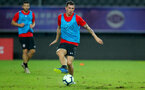 SHANGHAI, CHINA - JULY 09: Pierre-Emile Hojbjerg during a Southampton FC training session, while on their pre season tour of China, on July 6, 2018 in Xuzhou, China. (Photo by Matt Watson/Southampton FC via Getty Images)