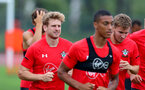 SHANGHAI, CHINA - JULY 10: Stuart Armstrong during a Southampton FC training session, while on their pre season tour of China, on July 10, 2018 in Xuzhou, China. (Photo by Matt Watson/Southampton FC via Getty Images)