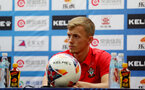 SHANGHAI, CHINA - JULY 10: James Ward-Prowse during a Southampton FC press conference, while on their pre season tour of China, on July 10, 2018 in Xuzhou, China. (Photo by Matt Watson/Southampton FC via Getty Images)