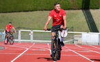 EVIAN-LES-BAINS, FRANCE - JULY 23: Jan Bednarek as Southampton FC take part in their first day of their pre-season training camp, on July 23, 2018 in Evian-les-Bains, France. (Photo by Matt Watson/Southampton FC via Getty Images)