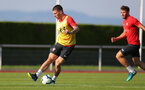 EVIAN-LES-BAINS, FRANCE - JULY 23: Pierre-Emile Hojbjerg as Southampton FC take part in their first day of their pre-season training camp, on July 23, 2018 in Evian-les-Bains, France. (Photo by Matt Watson/Southampton FC via Getty Images)