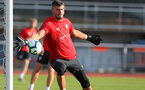 EVIAN-LES-BAINS, FRANCE - JULY 23: Fraser Forster as Southampton FC take part in their first day of their pre-season training camp, on July 23, 2018 in Evian-les-Bains, France. (Photo by Matt Watson/Southampton FC via Getty Images)