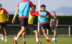 EVIAN-LES-BAINS, FRANCE - JULY 23: Manolo Gabbiadini as Southampton FC take part in their first day of their pre-season training camp, on July 23, 2018 in Evian-les-Bains, France. (Photo by Matt Watson/Southampton FC via Getty Images)