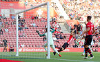 SOUTHAMPTON, ENGLAND - AUGUST 01: Sam McQueen of Southampton FC see's his header sail over the bar during the pre-season friendly match between Southampton and Celta Vigo at St Mary's Stadium on August 1, 2018 in Southampton, England. (Photo by Matt Watson/Southampton FC via Getty Images)