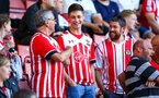SOUTHAMPTON, ENGLAND - AUGUST 01: Southampton FC fans ahead of Kick off for the Pre-Season friendly match between Southampton FC and Celta Vigo pictured at St Mary's Stadium on August 1, 2018 in Southampton, England. (Photo by James Bridle - Southampton FC/Southampton FC via Getty Images)