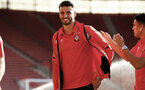 SOUTHAMPTON, ENGLAND - AUGUST 01: Wesley Hoedt (Middle) ahead of the Pre-Season friendly match between Southampton FC and Celta Vigo pictured at St Mary's Stadium on August 1, 2018 in Southampton, England. (Photo by James Bridle - Southampton FC/Southampton FC via Getty Images)