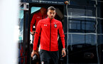 SOUTHAMPTON, ENGLAND - AUGUST 01: Wesley Hoedt arrives ahead of the Pre-Season friendly match between Southampton FC and Celta Vigo pictured at St Mary's Stadium on August 1, 2018 in Southampton, England. (Photo by James Bridle - Southampton FC/Southampton FC via Getty Images)