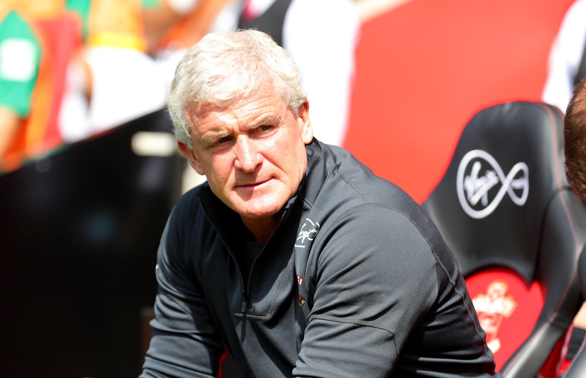 SOUTHAMPTON, ENGLAND - AUGUST 04: Mark Hughes of Southampton FC during the pre-season friendly match between Southampton and Borussia Monchengladbach at St Mary's Stadium on August 4, 2018 in Southampton, England. (Photo by Matt Watson/Southampton FC via Getty Images)