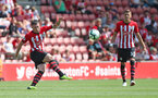 SOUTHAMPTON, ENGLAND - AUGUST 04: Pierre-Emile Hojbjerg of Southampton FC during the pre-season friendly match between Southampton and Borussia Monchengladbach at St Mary's Stadium on August 4, 2018 in Southampton, England. (Photo by Matt Watson/Southampton FC via Getty Images)
