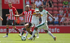 SOUTHAMPTON, ENGLAND - AUGUST 04: Mario Lemina of Southampton FC during the pre-season friendly match between Southampton and Borussia Monchengladbach at St Mary's Stadium on August 4, 2018 in Southampton, England. (Photo by Matt Watson/Southampton FC via Getty Images)