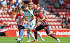 SOUTHAMPTON, ENGLAND - AUGUST 04: Charlie Austin (right) of Southampton FC during the Pre-Season friendly match between Southampton FC and Borussia Mšnchengladbach pictured at St Mary's Stadium on August 4, 2018 in Southampton, England. (Photo by James Bridle - Southampton FC/Southampton FC via Getty Images) SOUTHAMPTON, ENGLAND - AUGUST 04: Charlie Austin (right) of Southampton FC during the Pre-Season friendly match between Southampton FC and Borussia Mönchengladbach pictured at St Mary's Stadium on August 4, 2018 in Southampton, England. (Photo by James Bridle - Southampton FC/Southampton FC via Getty Images)