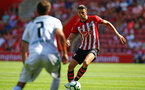 SOUTHAMPTON, ENGLAND - AUGUST 04: Wesley Hoedt of Southampton FC (right) during the Pre-Season friendly match between Southampton FC and Borussia Mšnchengladbach pictured at St Mary's Stadium on August 4, 2018 in Southampton, England. (Photo by James Bridle - Southampton FC/Southampton FC via Getty Images) SOUTHAMPTON, ENGLAND - AUGUST 04: Wesley Hoedt of Southampton FC (right) during the Pre-Season friendly match between Southampton FC and Borussia Mönchengladbach pictured at St Mary's Stadium on August 4, 2018 in Southampton, England. (Photo by James Bridle - Southampton FC/Southampton FC via Getty Images)