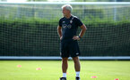 SOUTHAMPTON, ENGLAND - AUGUST 07: Mark Hughes during a Southampton FC training session at Staplewood Complex on August 7, 2018 in Southampton, England. (Photo by James Bridle - Southampton FC/Southampton FC via Getty Images)