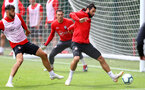 SOUTHAMPTON, ENGLAND - AUGUST 10: Charlie Austin during a Southampton FC training session at the Staplewood Campus on August 10, 2018 in Southampton, England. (Photo by Matt Watson/Southampton FC via Getty Images)