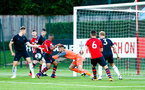 SOUTHAMPTON, ENGLAND - AUGUST 10: Middlesbrough keeper can't get the ball to the ground, resulting in Alfie Jones scoring during the PL2 match between Southampton FC vs Middlesbrough FC pictured at Staplewood Complex on August 10, 2018 in Southampton, England. (Photo by James Bridle - Southampton FC/Southampton FC via Getty Images)