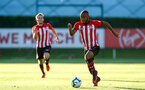 SOUTHAMPTON, ENGLAND - AUGUST 10: Tyreke Johnson (right) during the PL2 match between Southampton FC vs Middlesbrough FC pictured at Staplewood Complex on August 10, 2018 in Southampton, England. (Photo by James Bridle - Southampton FC/Southampton FC via Getty Images)