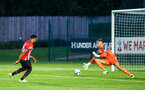 SOUTHAMPTON, ENGLAND - AUGUST 10: Marcus Barnes scores (left) for Southampton FC during the PL2 match between Southampton FC vs Middlesbrough FC pictured at Staplewood Complex on August 10, 2018 in Southampton, England. (Photo by James Bridle - Southampton FC/Southampton FC via Getty Images)