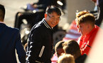 SOUTHAMPTON, ENGLAND - AUGUST 10:  Gao Jisheng greets players ahead of the PL2 match between Southampton FC vs Middlesbrough FC pictured at Staplewood Complex on August 10, 2018 in Southampton, England. (Photo by James Bridle - Southampton FC/Southampton FC via Getty Images)