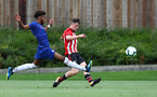 Will Ferry crosses during an U18 match between Southampton FC and Chelsea, at the Staplewood Campus, Southampton, 11th August 2018