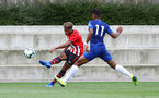 Enzo Robise during an U18 match between Southampton FC and Chelsea, at the Staplewood Campus, Southampton, 11th August 2018