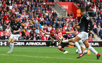 SOUTHAMPTON, ENGLAND - AUGUST 12: Mohamed Elyounoussi of Southampton shoots at goal during the Premier League match between Southampton FC and Burnley FC at St Mary's Stadium on August 12, 2018 in Southampton, United Kingdom. (Photo by Matt Watson/Southampton FC via Getty Images)